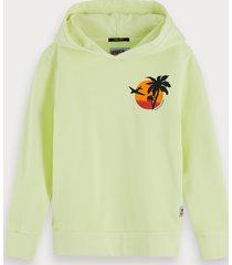 scotch & soda bright garment dyed hoodie