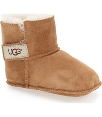 infant ugg erin bootie, size x-small - brown