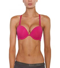 sosten microfibra air push up magenta baziani