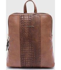mochila maggie marrón amphora