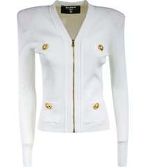 balmain multi pocket zipped jacket