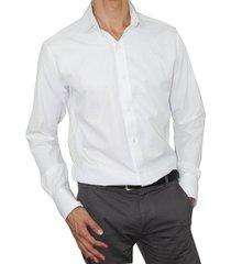 camisa slim fit cuello frances aranzazu charles blanco