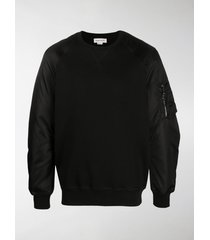 alexander mcqueen zip-pocket sweatshirt