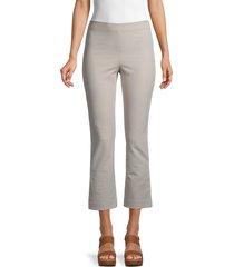 vince women's flared cropped pants - cobblestone - size xs