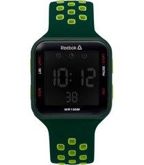 reloj   square elements verde reebok
