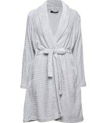 decoy short robe w/stripes morgonrock grå decoy