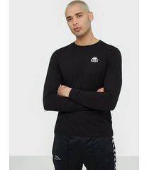 kappa t-shirt l/s auth wincy tröjor svart/vit