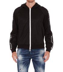 dsquared2 techno fleece logo zipped hoodie