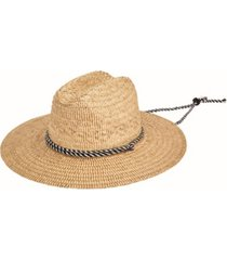 men's kwai braided straw lifeguard hat