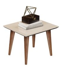 conjunto mesa lateral e mesa de centro maju - off white - rpm móveis