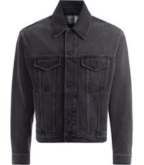 ami bomber jacket in washed black denim