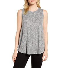 women's gibson x living in yellow millie cozy muscle tank, size - (regular & petite) (nordstrom exclusive)