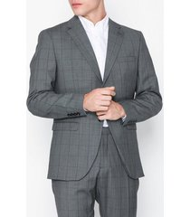 selected homme slhslim-mylorob grey check blz b no kavajer & kostymer grå