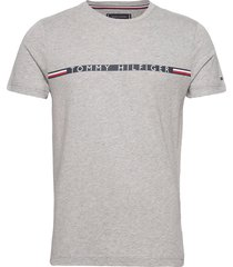 mini stripe tee t-shirts short-sleeved grå tommy hilfiger