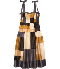 minerva dress in patchwork