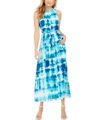 calvin klein tie-dye sleeveless maxi dress