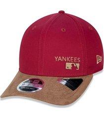 boné new era 950 stretch snap new york yankees vermelho escuro