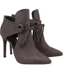 ankle boot amarração lança perfume feminina