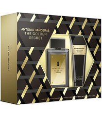 kit 1 perfume masculino the golden secret antonio banderas 100ml + 1 pós barba 75ml