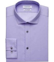 calvin klein men's infinite non-iron lavender slim fit stretch dress shirt - size: 17 32/33