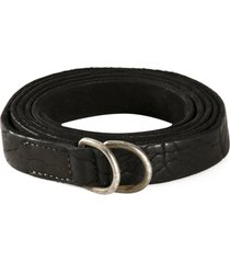 guidi distressed belt - black
