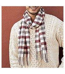 100% alpaca scarf, 'red earth' (peru)