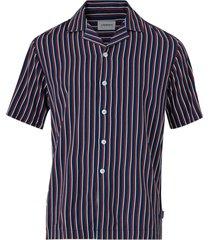 skjorta striped visc resort shirt s/s