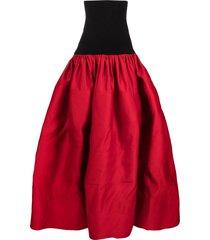 az factory switchwear duchesse long skirt - red