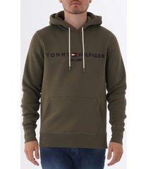 tommy hilfiger tommy logo hoodie - grape leaf  mw0mw10752