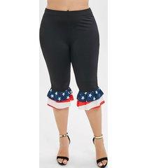 american flag flounces layered plus size pants