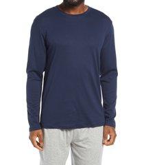 men's nordstrom long sleeve pima cotton lounge t-shirt, size x-large - blue