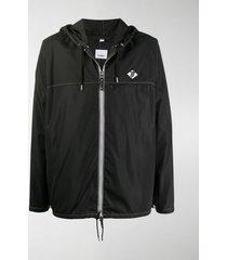 burberry logo patch jacket