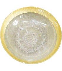 saladeira dunya de vidro 18cm lino amarelo