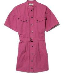 zolina dress in raspberry