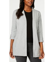 karen scott 3/4-sleeve cozy cardigan, created for macy's