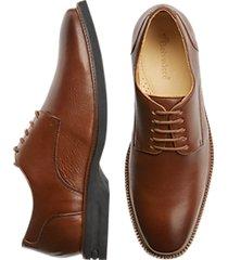 belvedere harvard tan plain toe derby dress shoe