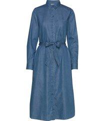 dresses denim jurk knielengte blauw esprit casual