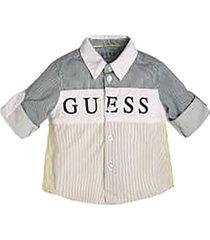 camisa poplin regular adjusshirt multicolor guess