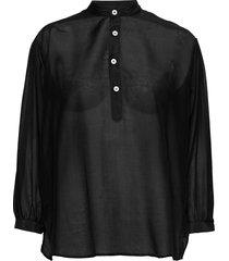 key shirt blouse lange mouwen zwart hope