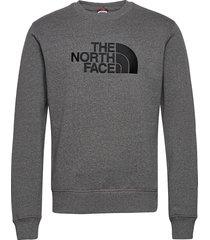 m drew peak crew sweat-shirt trui grijs the north face