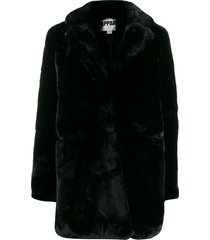 apparis sophie mid-length coat - black