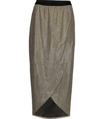 skirt in glitter knälång kjol grå coster copenhagen