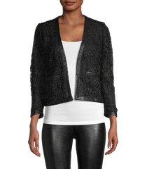 the kooples women's lace open-front jacket - black - size 36 (2)