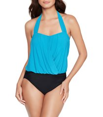 magicsuit(r) olivia solid underwire one-piece swimsuit, size 10 in pool at nordstrom