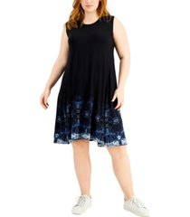 style & co border-print flip-flop dress, created for macy's