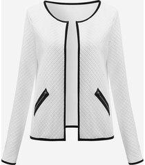celmia casual maniche lunghe giacca da tasca patchwork giacca per le donne