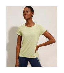 camiseta de poliamida esportiva ace com micro furos manga curta decote redondo verde