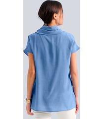 blus alba moda blå