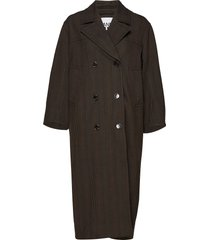 suiting coat tunn rock brun ganni