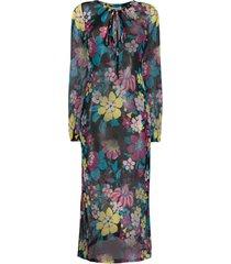 saint laurent floral-print sheer dress